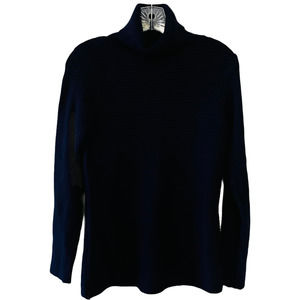 Cyrus By Devotion Ribbed Turtle Neck Navy Sweater
